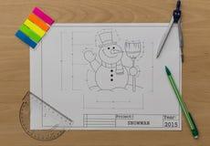 圣诞节铃声图纸 免版税库存图片