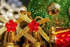 圣诞节铃声背景 免版税库存图片