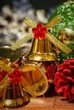 圣诞节铃声背景 图库摄影