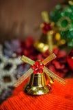 圣诞节铃声背景 免版税库存照片