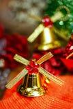 圣诞节铃声背景 库存图片
