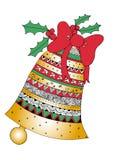 圣诞节铃声 假日标志 库存例证