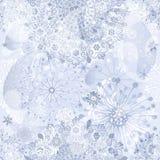 圣诞节银色无缝的模式 免版税库存图片