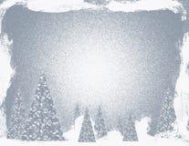 圣诞节银色雪风暴 库存图片