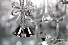 圣诞节银 免版税库存照片