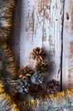 圣诞节链子 顶视图 Copypace 库存照片
