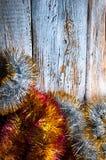 圣诞节链子 顶视图 Copypace 免版税库存照片
