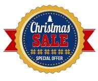 圣诞节销售徽章 免版税库存图片