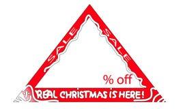 圣诞节销售标志 免版税库存图片