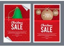 圣诞节销售模板设计 免版税库存图片