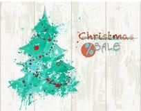 圣诞节销售横幅 免版税图库摄影