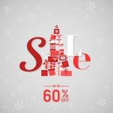 圣诞节销售横幅 免版税库存图片
