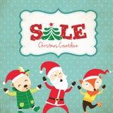 圣诞节销售海报 免版税库存照片