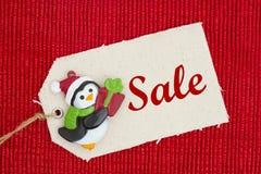圣诞节销售消息 免版税库存图片