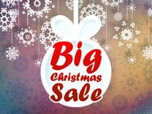 圣诞节销售背景。+ EPS10 免版税库存图片