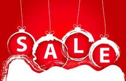 圣诞节销售背景 免版税库存图片