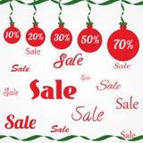 圣诞节销售装饰品 免版税图库摄影