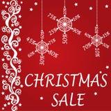 圣诞节销售设计 免版税库存图片