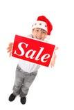 圣诞节销售额时间 免版税库存图片