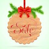 圣诞节销售额看板卡 免版税库存照片