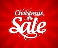 圣诞节销售额设计模板。 免版税库存照片
