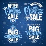 圣诞节销售额设计模板 皇族释放例证