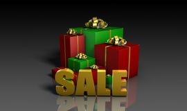 圣诞节销售额 免版税库存照片