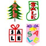 圣诞节销售额 库存图片