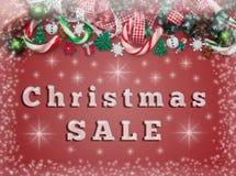 圣诞节销售,横幅 免版税库存照片