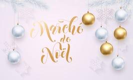 圣诞节销售French Vente de Noel金黄闪烁 库存图片