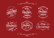 圣诞节错别字设计 免版税库存照片