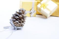 圣诞节锥体 免版税图库摄影