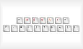 圣诞节键盘 库存照片
