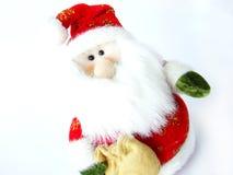 圣诞节长毛绒圣诞老人 免版税库存图片