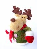 圣诞节长毛绒驯鹿 免版税库存图片