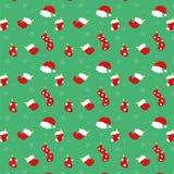 圣诞节长袜和帽子 库存图片