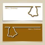 圣诞节门铃横幅 免版税图库摄影
