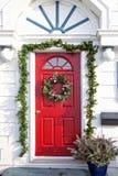 圣诞节门 库存照片