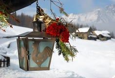 圣诞节闪亮指示 免版税库存照片