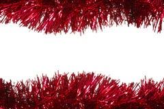 圣诞节闪亮金属片作为边界 免版税库存照片