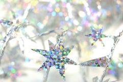 圣诞节闪亮金属片 免版税库存图片
