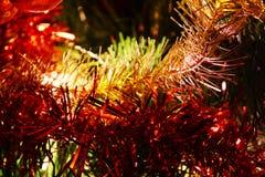 圣诞节闪亮金属片 库存图片