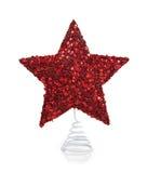 圣诞节闪光红色星形白色 库存照片