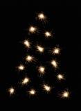 圣诞节闪烁发光物结构树 图库摄影