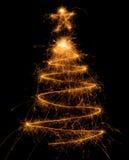 圣诞节闪烁发光物结构树 免版税图库摄影