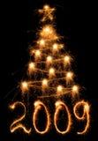 圣诞节闪烁发光物结构树 库存图片