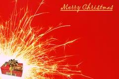 圣诞节闪烁发光物 库存图片