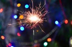 圣诞节闪烁发光物 库存照片