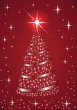 圣诞节闪烁的结构树 皇族释放例证