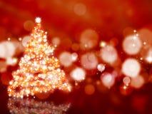 圣诞节闪耀的结构树 库存图片